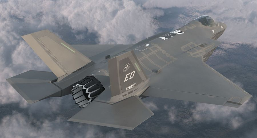 Stealth Multirole Fighter F-35 Lightning II royalty-free 3d model - Preview no. 5