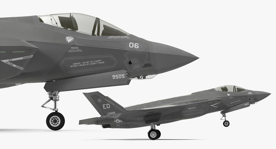 Stealth Multirole Fighter F-35 Lightning II royalty-free 3d model - Preview no. 11