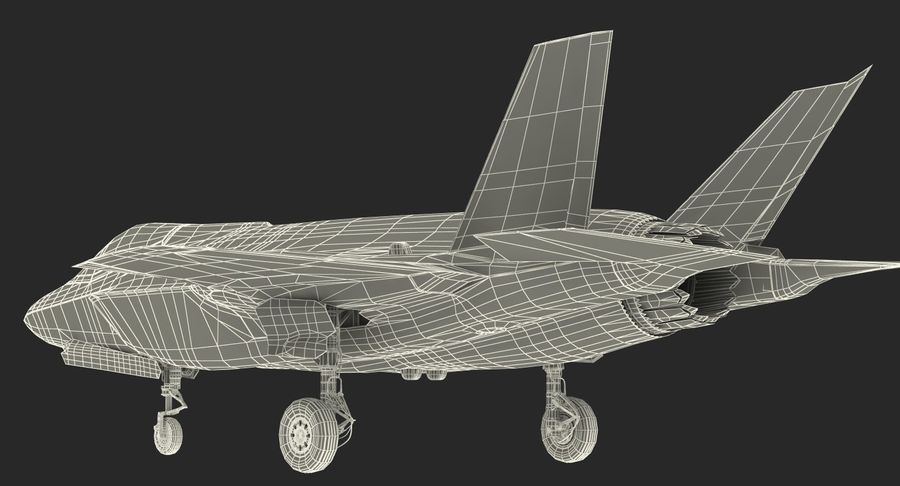 Stealth Multirole Fighter F-35 Lightning II royalty-free 3d model - Preview no. 22