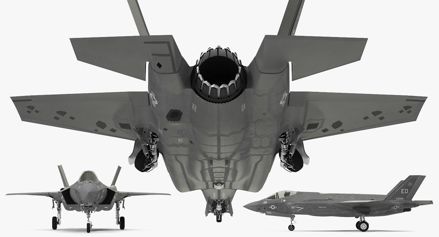 Stealth Multirole Fighter F-35 Lightning II royalty-free 3d model - Preview no. 9