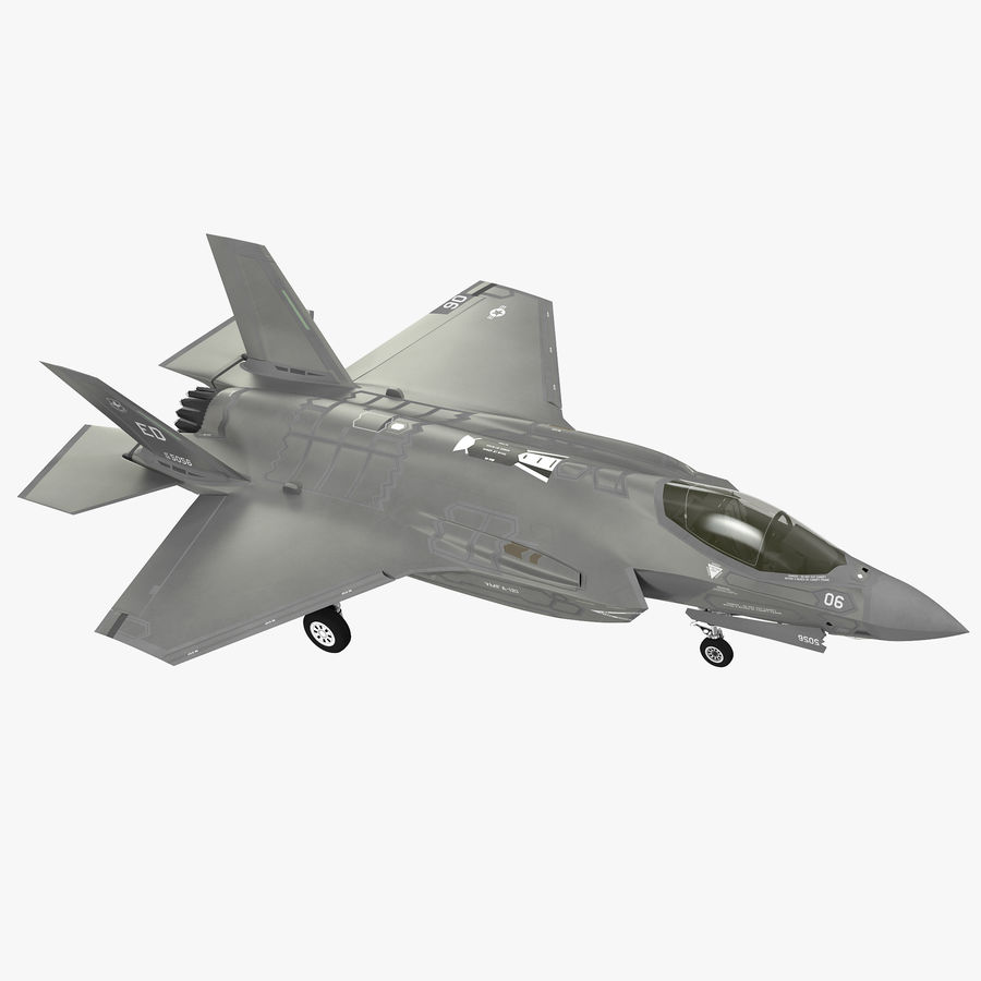 Stealth Multirole Fighter F-35 Lightning II royalty-free 3d model - Preview no. 1