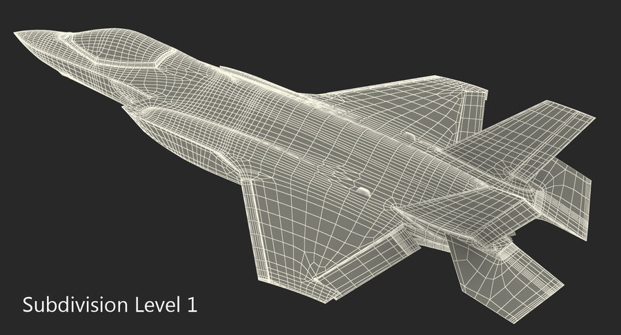 Stealth Multirole Fighter F-35 Lightning II royalty-free 3d model - Preview no. 16