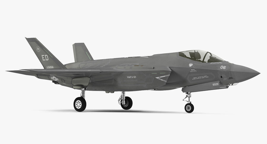 Stealth Multirole Fighter F-35 Lightning II royalty-free 3d model - Preview no. 7