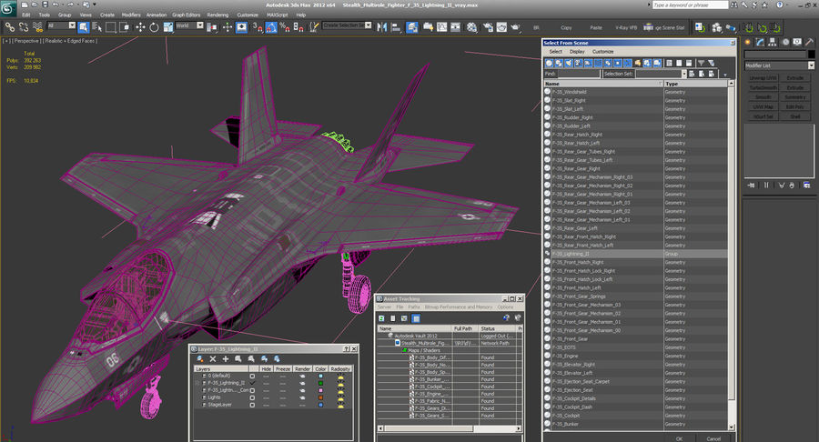 Stealth Multirole Fighter F-35 Lightning II royalty-free 3d model - Preview no. 21