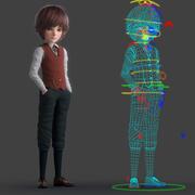 Kreskówka chłopiec uzbrojony 3d model