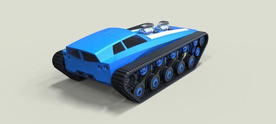 트랙에 근육 차 royalty-free 3d model - Preview no. 11