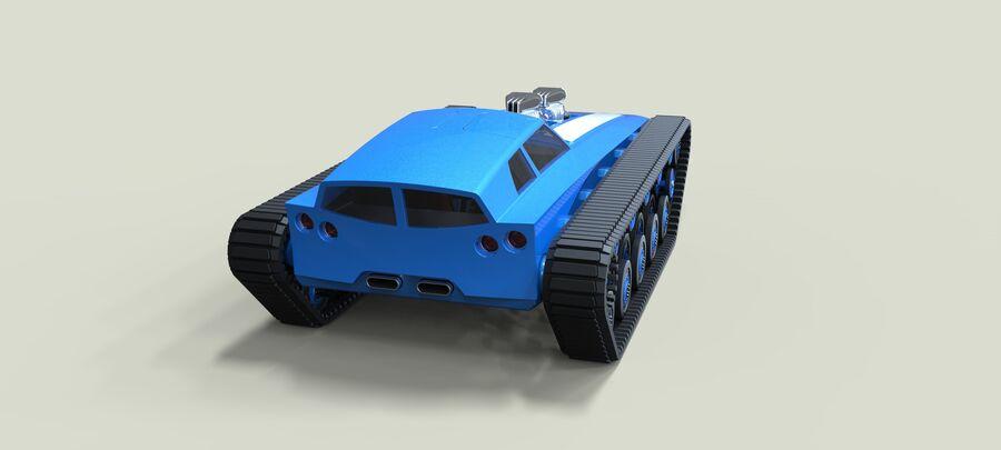 트랙에 근육 차 royalty-free 3d model - Preview no. 13
