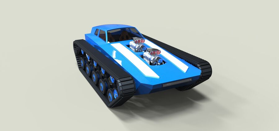 트랙에 근육 차 royalty-free 3d model - Preview no. 3