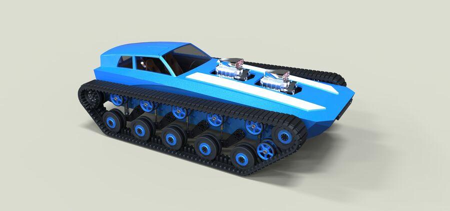 트랙에 근육 차 royalty-free 3d model - Preview no. 1