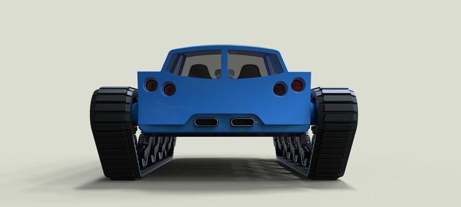 트랙에 근육 차 royalty-free 3d model - Preview no. 16