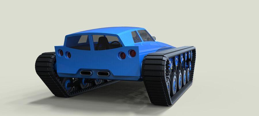 트랙에 근육 차 royalty-free 3d model - Preview no. 14