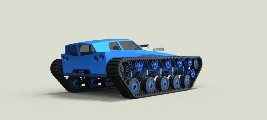트랙에 근육 차 royalty-free 3d model - Preview no. 12