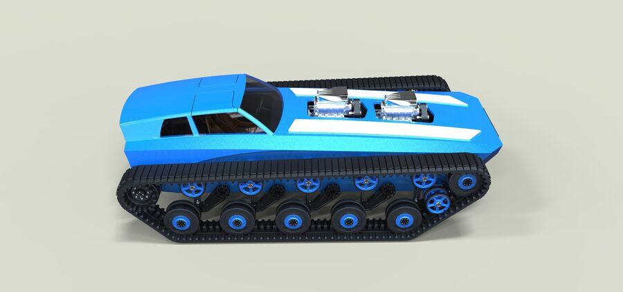 트랙에 근육 차 royalty-free 3d model - Preview no. 9