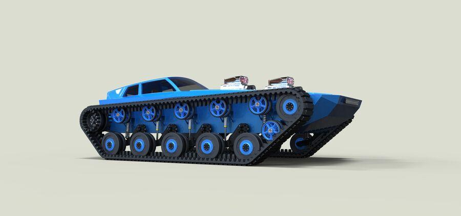트랙에 근육 차 royalty-free 3d model - Preview no. 2