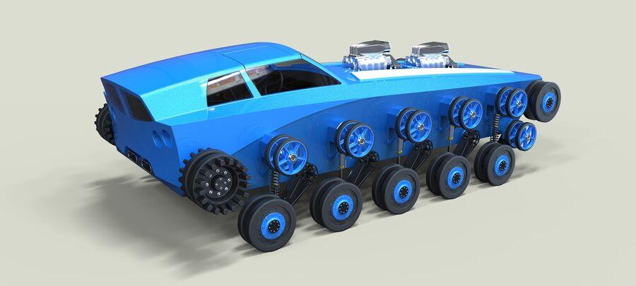 트랙에 근육 차 royalty-free 3d model - Preview no. 18