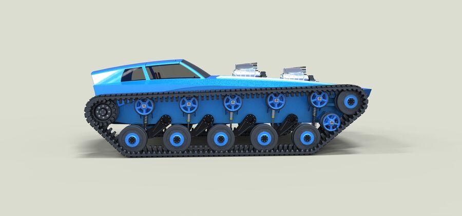 트랙에 근육 차 royalty-free 3d model - Preview no. 8