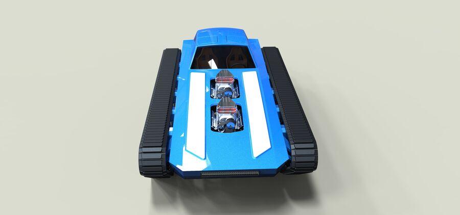 트랙에 근육 차 royalty-free 3d model - Preview no. 6