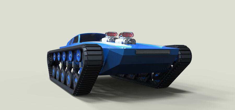 트랙에 근육 차 royalty-free 3d model - Preview no. 4