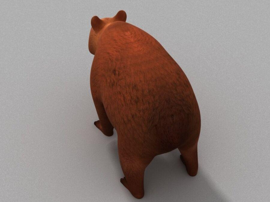 Niedźwiedź kreskówka royalty-free 3d model - Preview no. 5