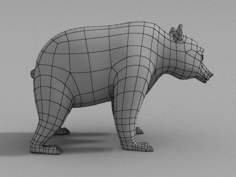 Niedźwiedź kreskówka royalty-free 3d model - Preview no. 7