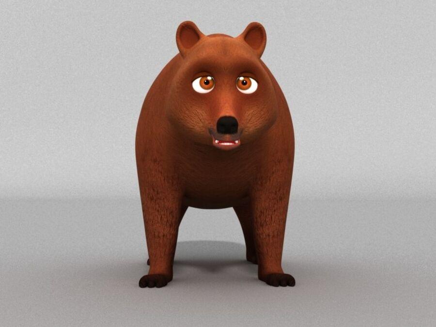 Niedźwiedź kreskówka royalty-free 3d model - Preview no. 2
