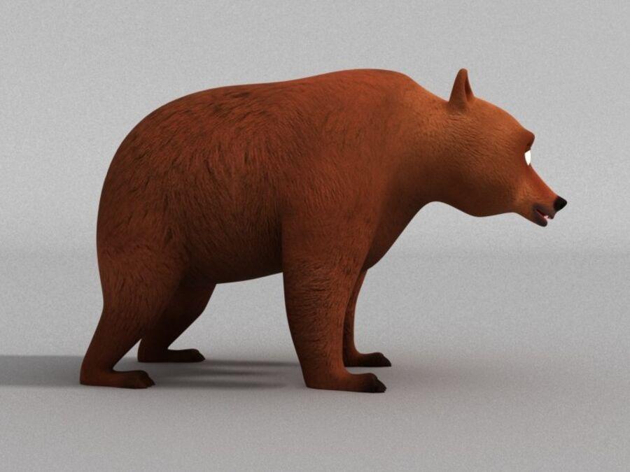 Niedźwiedź kreskówka royalty-free 3d model - Preview no. 3