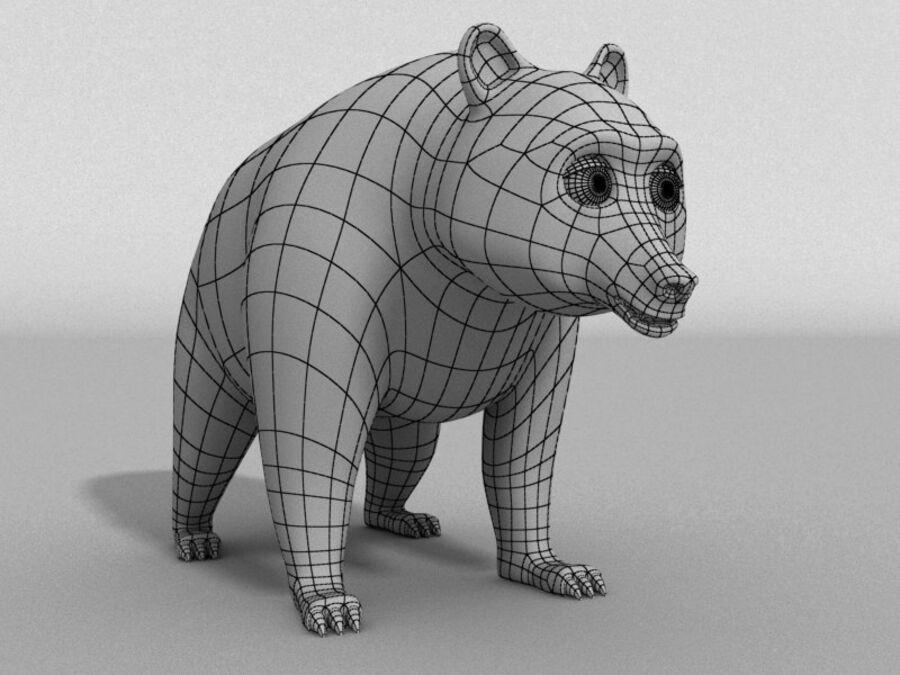 Niedźwiedź kreskówka royalty-free 3d model - Preview no. 6