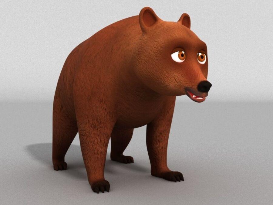 Niedźwiedź kreskówka royalty-free 3d model - Preview no. 1