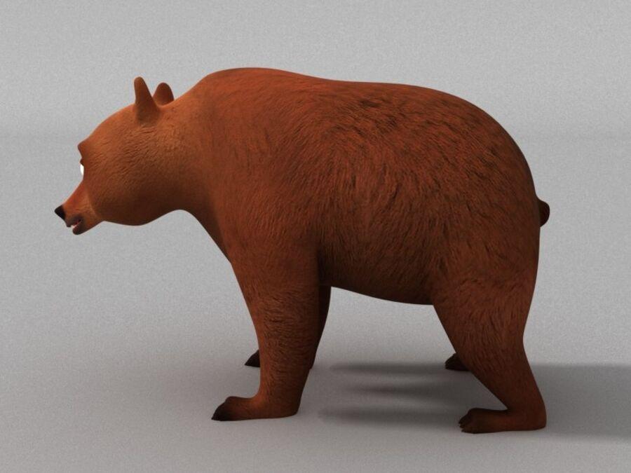 Niedźwiedź kreskówka royalty-free 3d model - Preview no. 4