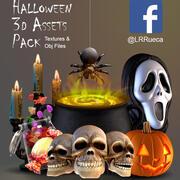 Halloween 3d-tillgångar 3d model