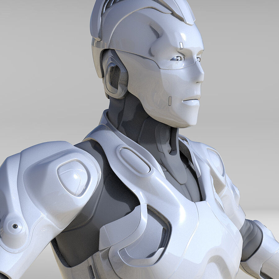Cyborg Robot royalty-free 3d model - Preview no. 5