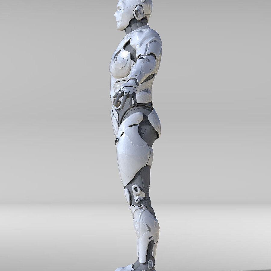 Cyborg Robot royalty-free 3d model - Preview no. 10