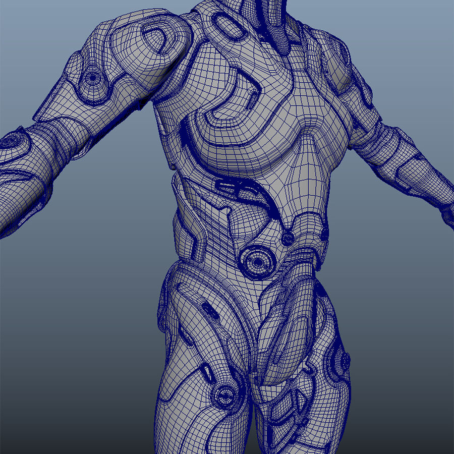 Cyborg Robot royalty-free 3d model - Preview no. 13