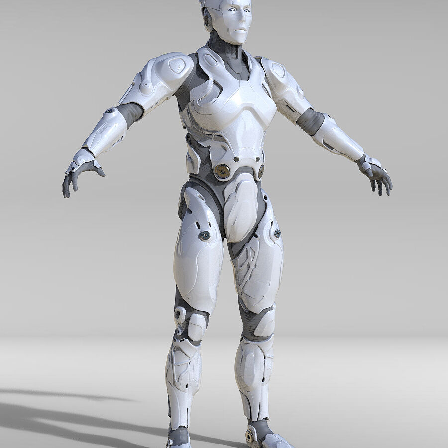Cyborg Robot royalty-free 3d model - Preview no. 2