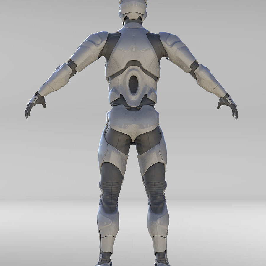 Cyborg Robot royalty-free 3d model - Preview no. 12