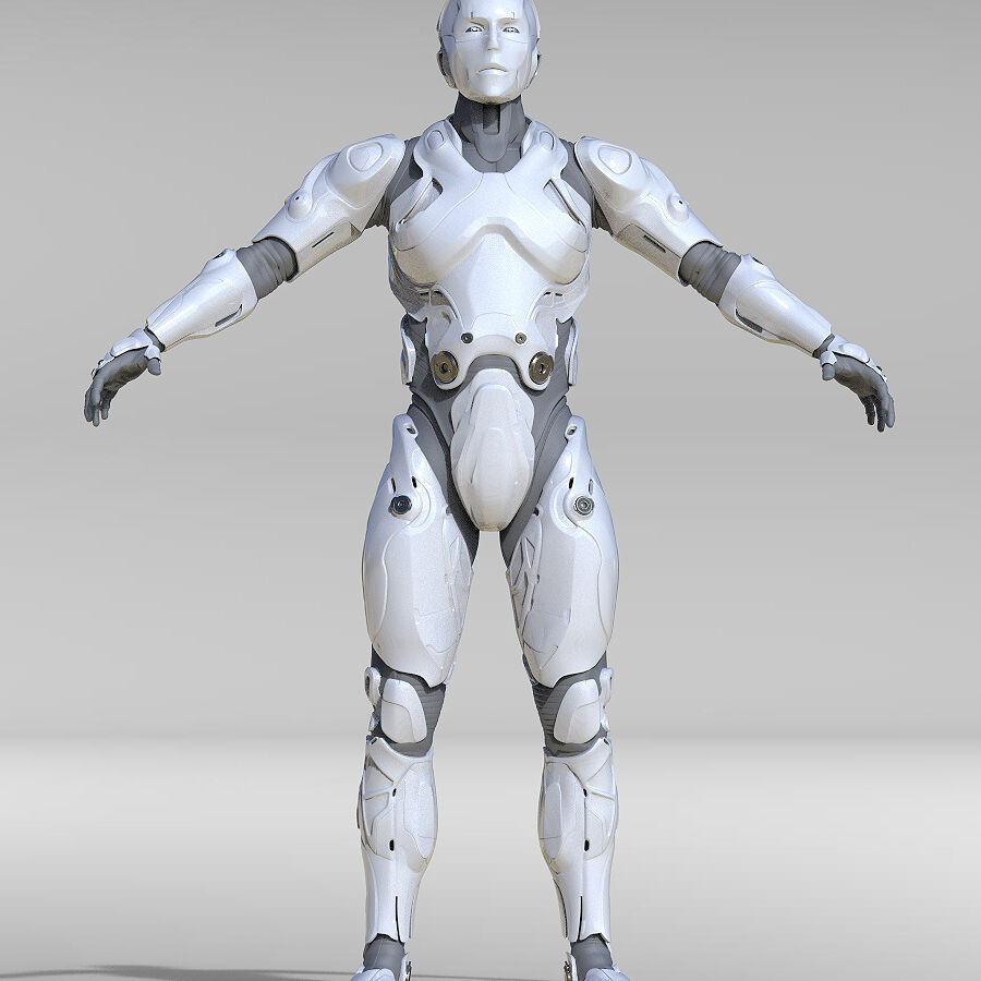 Cyborg Robot royalty-free 3d model - Preview no. 3