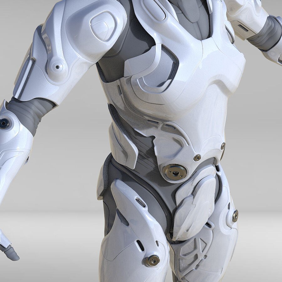 Cyborg Robot royalty-free 3d model - Preview no. 6
