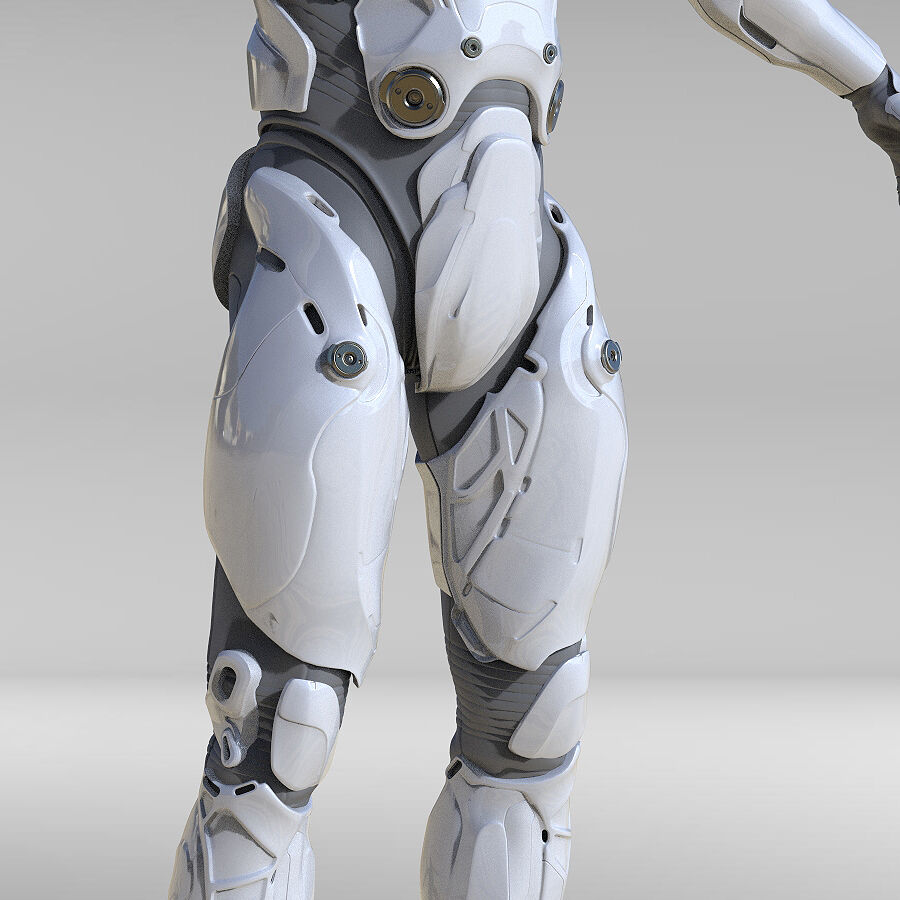 Cyborg Robot royalty-free 3d model - Preview no. 8