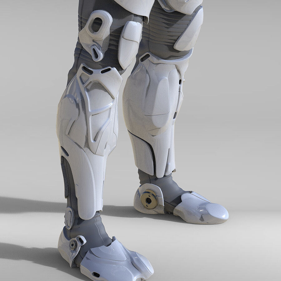 Cyborg Robot royalty-free 3d model - Preview no. 9