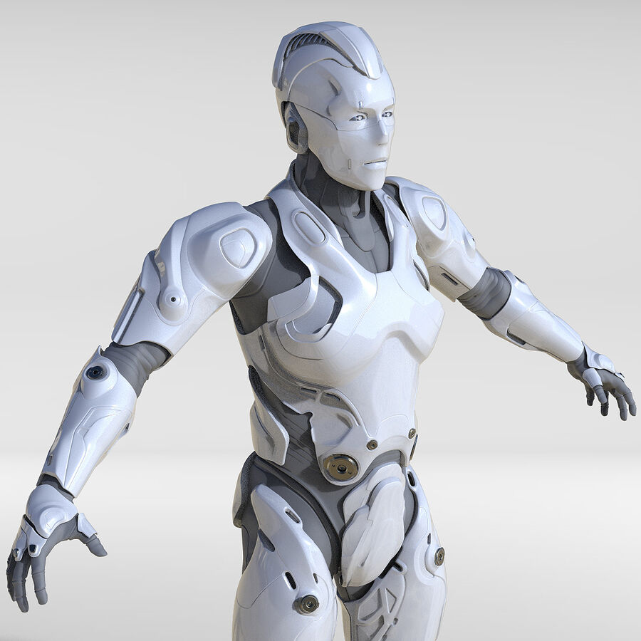 Cyborg Robot royalty-free 3d model - Preview no. 1