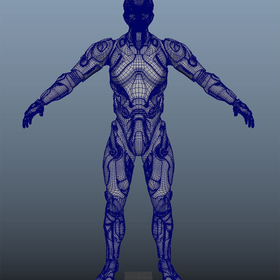 Cyborg Robot royalty-free 3d model - Preview no. 14