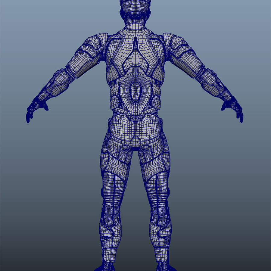 Cyborg Robot royalty-free 3d model - Preview no. 15