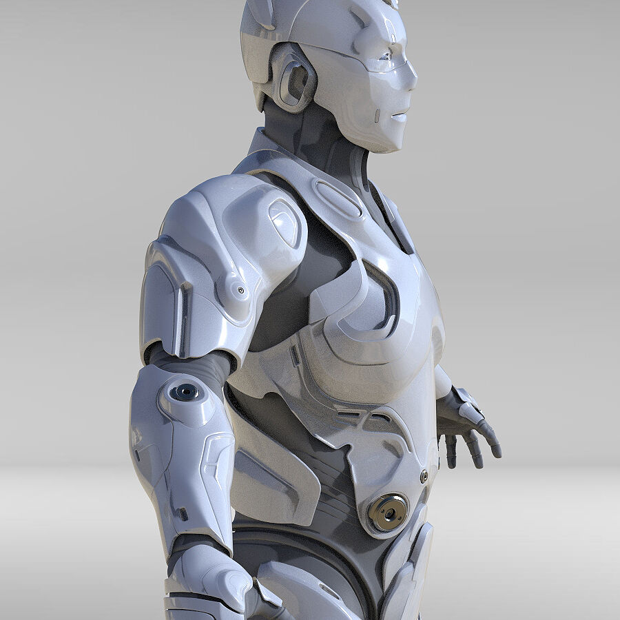 Cyborg Robot royalty-free 3d model - Preview no. 7
