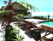 Foto da área externa da configuração do Resort 3d model