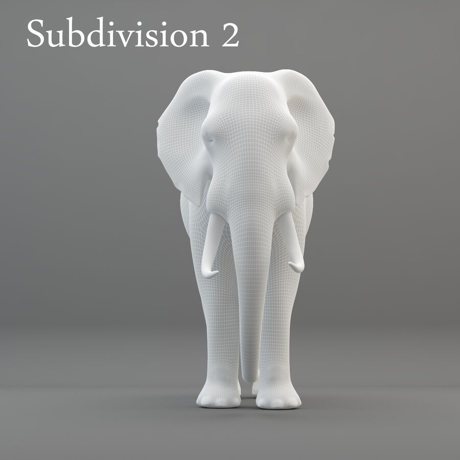 Rigged Elephant royalty-free 3d model - Preview no. 18