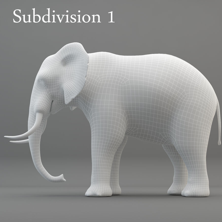 Rigged Elephant royalty-free 3d model - Preview no. 14