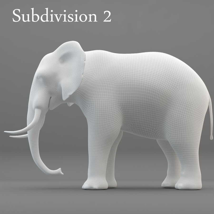 Rigged Elephant royalty-free 3d model - Preview no. 17
