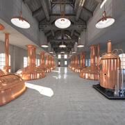 啤酒厂001 3d model