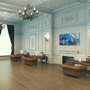 Klassisk lobby 3d model
