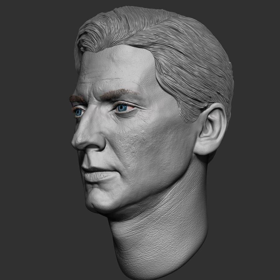 Caucasian Man Head royalty-free 3d model - Preview no. 4